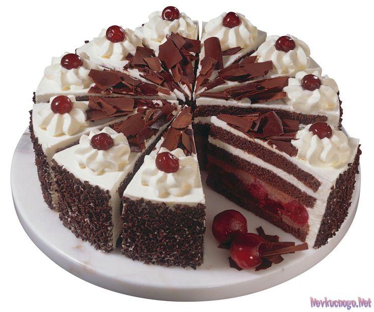 Пражский торт с вишнями