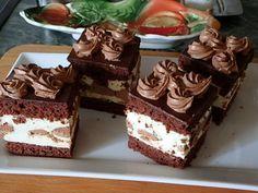 Tejszínkrémes-narancsos csokikocka, igazán kellemesen krémes sütemény, ami szinte elolvad a szájban