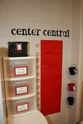 I like the idea of having all my centers' materials in one area of the classroom.