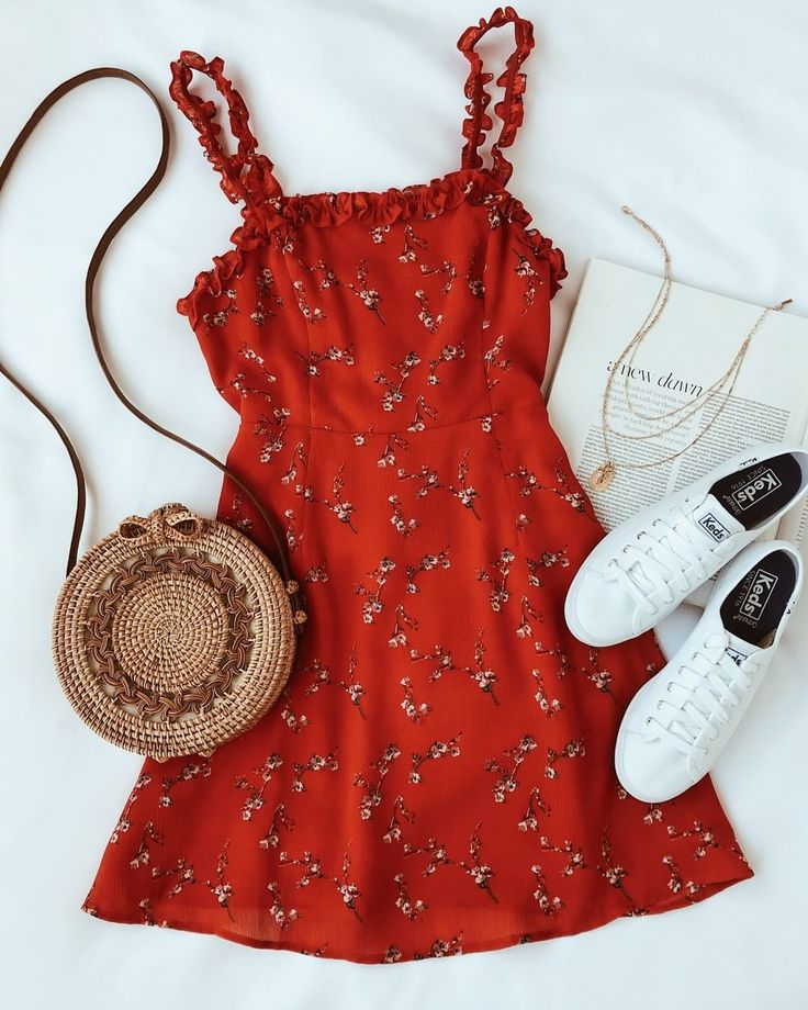 "Lulus.com on Instagram: ""the In the Garden red floral print dress looks real c... 1"