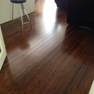 Cypress pine custom oak stain matt finish From: Finished Timber Floors (Northern Beaches)