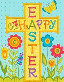 84 best happy easter images on pinterest happy easter happy easter religious cross tulip house flag 28 x 40 custom decor x text correctly readable on both sides of flag mildew and fade resistant 300 denier negle Choice Image