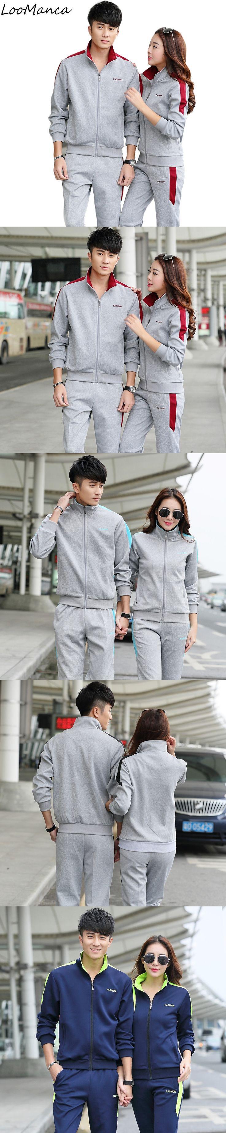 Men Women Velvet Tracksuit Sets Brand Tracksuits Casual Sportswear Autumn Suit Sweatshirt With Pants Femme Hombre Mens Tracksuit