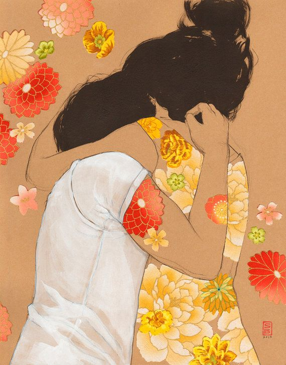 Peach Hug by Stasia Burrington.