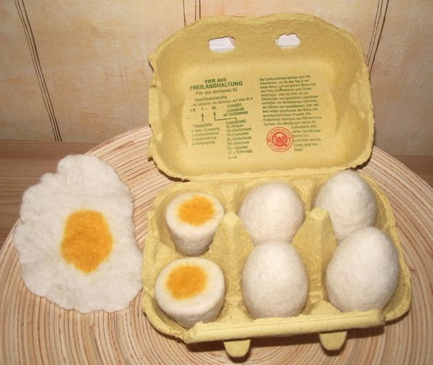 +Eier gefilzt für den Kaufladen+
