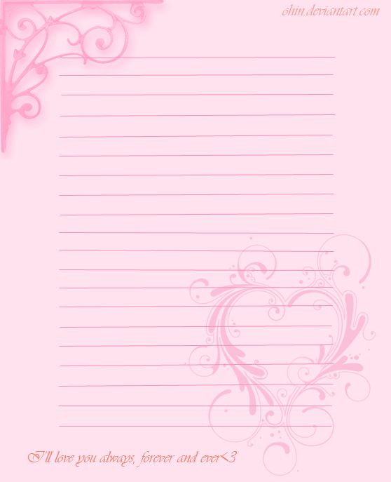 Valentine's Stationary by ohin.deviantart.com on @deviantART