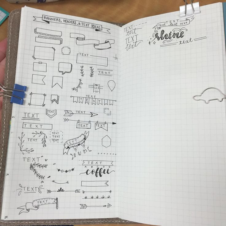 """A index of banner and header ideas to spice up my #bulletjournal and my school…"