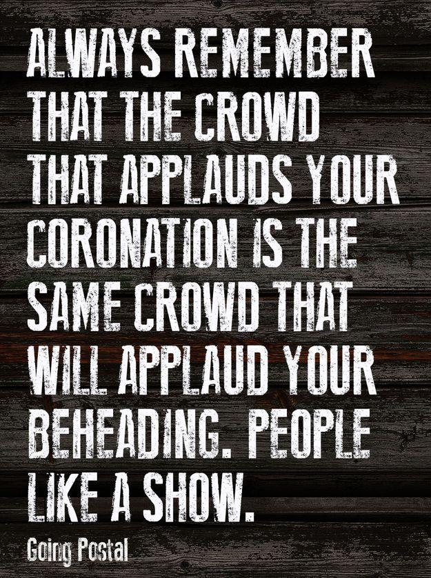 People like a show.