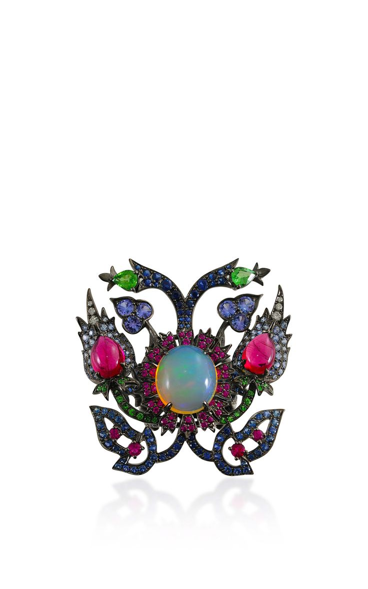 Opal and Ruby Ring from the Topkapi Collection by Lydia Courteille