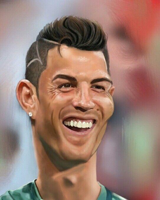 Cristiano Ronaldo caricature by Danny kohn