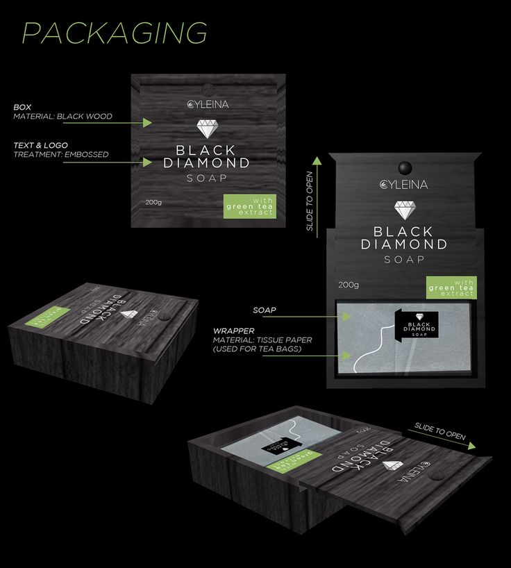 Cyleina Black Diamond Packaging Design on Behance