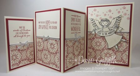 Four Fold Christmas card inside Dawn Griffith - go to website for measurements and video
