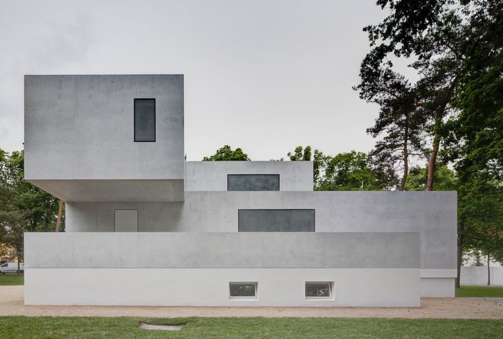 Bauhaus Architecture/ Newly Renovated Gropius house, part of Masters' Houses designed by Walter Gropius in Dessau