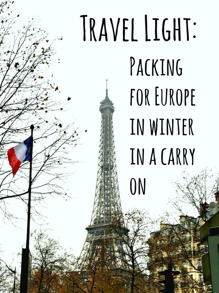 Travel Light: Packing for Europe in winter in a carry-on