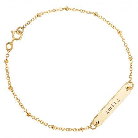 Love this #Anna Nina SMILE bracelet brass