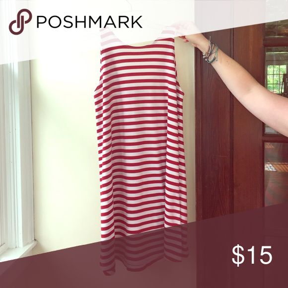 Altard State scoop neck dress Red and white striped dress with low scoop neck on the back Dresses Mini