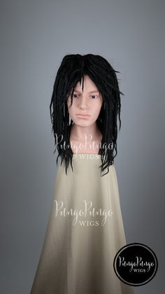 Black Dreadlocks Wig /Curly Long Dreads/ Halloween Costume Michonne Walking Dead Cosplay Straight Hippie Dreds Locs Rasta Mens Unisex del by PungoPungo on Etsy