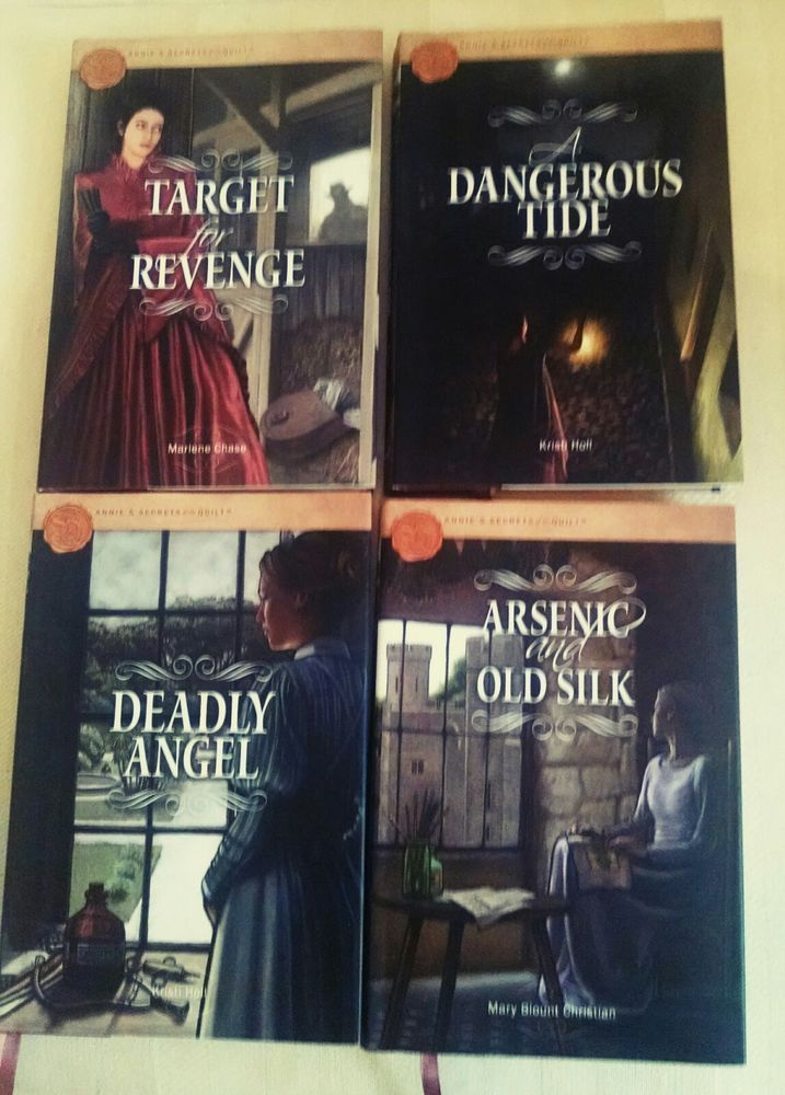 Annie's Secrets of the Quilt Mystery Series Lot of 4 Hardcover Books.