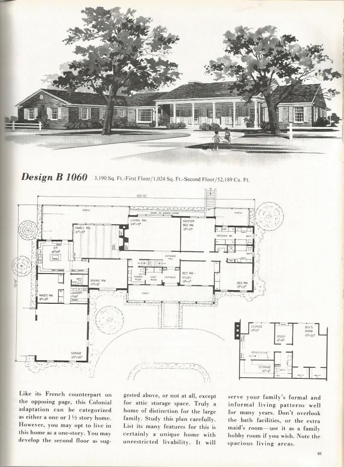 vintage house plans mid century homes luxurious vintage home plans