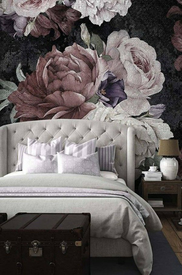 Schlafzimmer Tapeten Ideen Und Tipps Zur Anwendung Wallpaper Bedroom Loft Design Mural Wallpaper Flower bedroom wallpaper images