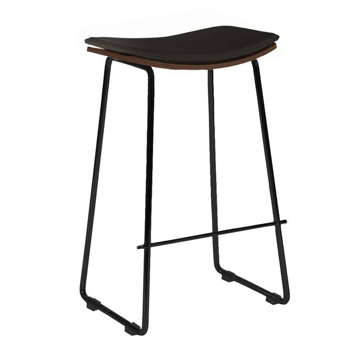 Browse Contemporary Bar Stools Online or Visit Our Showrooms To Get Inspired With The Latest Bar Stools From Life Interiors - Hendrix Bar Stool (Black Leather)