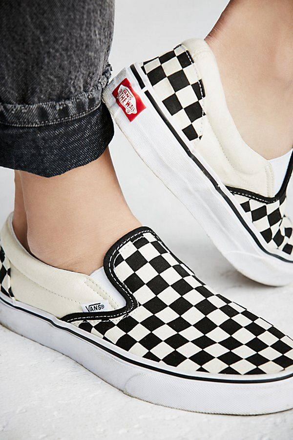 aed04d4aeccd Classic Checkered Slip-On in 2019