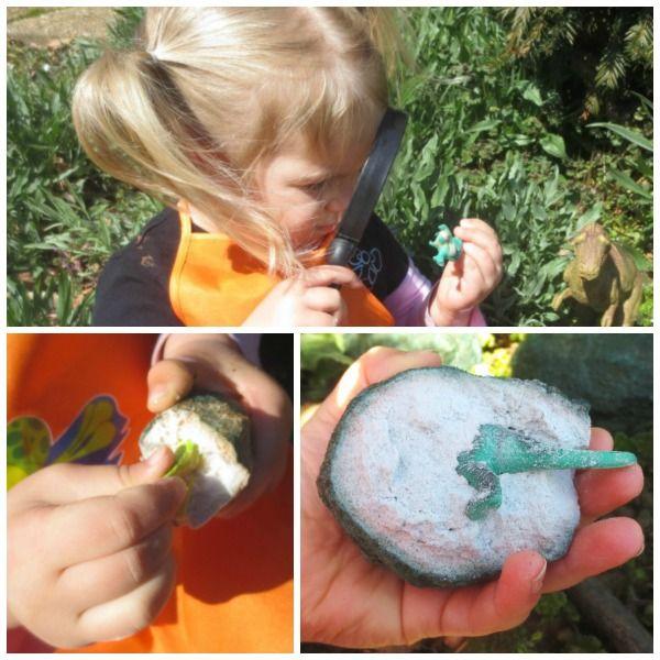 2 ingredient Dinosaur eggs ~ break them open with a little bit of science magic!