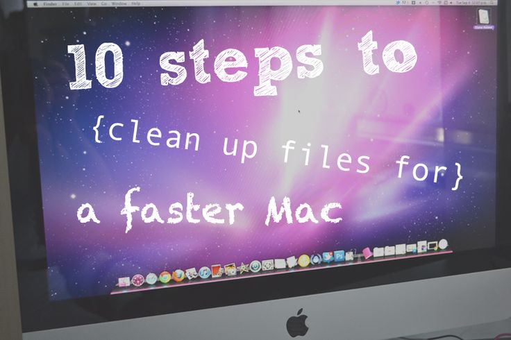 Tips on how to make a Mac run  faster and free up disk space.