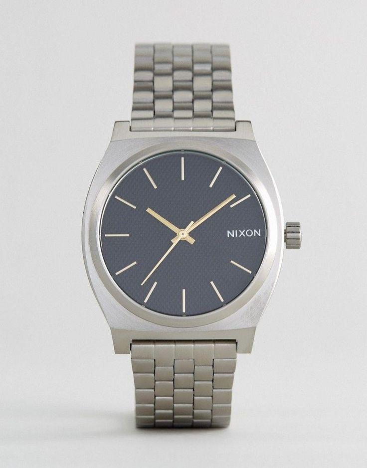 Nixon Black Velvet Time Teller Bracelet Watch In Silver - Silver