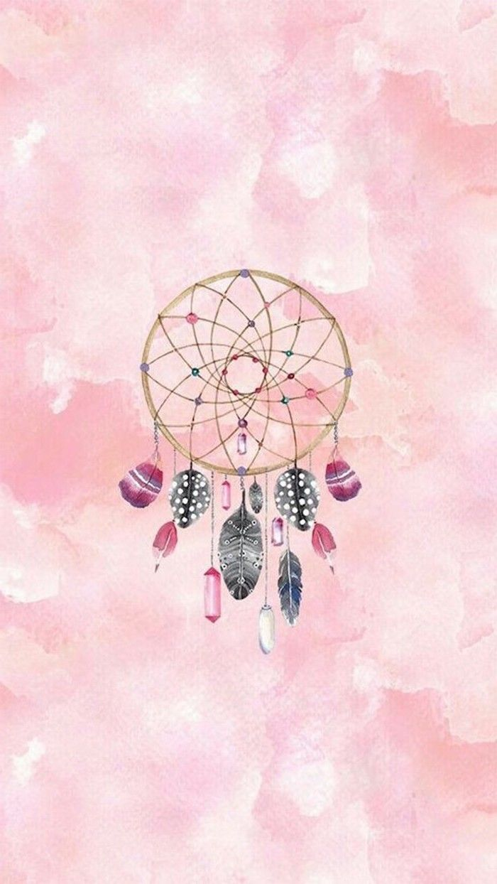 Colourful Dreamcatcher Cute Wallpapers Pink Background In 2020 Dreamcatcher Wallpaper Iphone 5s Wallpaper Pink Wallpaper Iphone