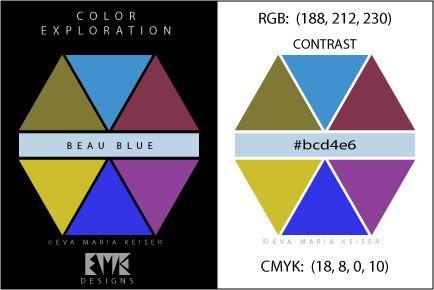"""Eva Maria Keiser Designs: Explore Color: """"Beau Blue"""" - Contrast"""