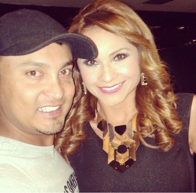 Con mi maquillador Adrian Herrera Montoya. Good Job.