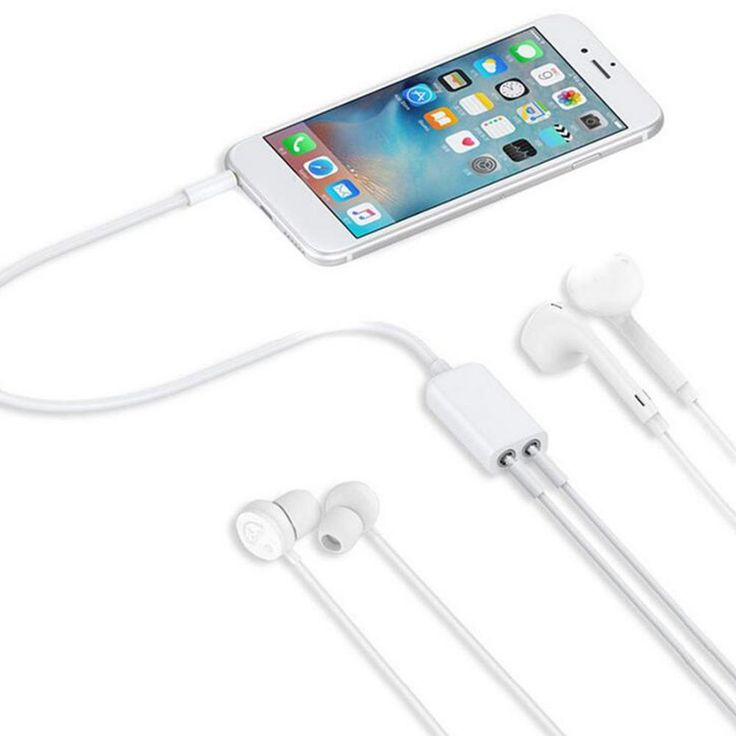 3.5 mm Dual Audio Line Headset Jack Earphone Splitter One In Two Couples Lovers Adapter For iPhone MP3 MP4 Portable Media Player