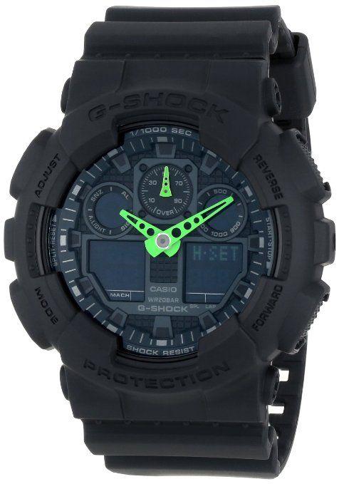 G-SHOCK Men's GA-100 Neon Highlights Watch One Size Black: Watches: Amazon.com