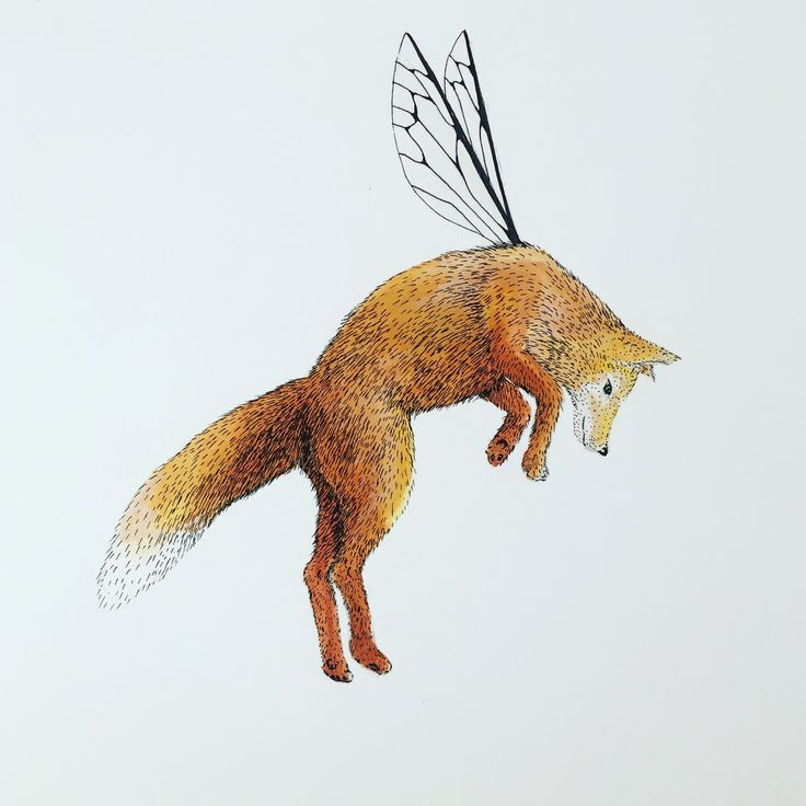 Roxanne. Fox 176mm x 250mm. Painted with metallic paints and ink. Available from http://hannahhorn.bigcartel.com #fox #art #illustration #nature #wildlife #hannahhorn