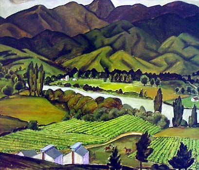 Tobacco Fields by Doris Lusk for Sale - New Zealand Art Prints