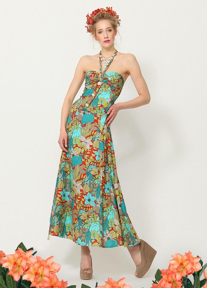 Yırtmach Çiçek desenli elbise Markafoni'de 90,00 TL yerine 39,99 TL! Satın almak için: http://www.markafoni.com/product/3536426/