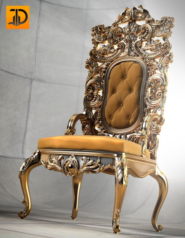 The 3D model was created on the basis of photo Italian chairs. Modeling, visualization in the foundry modo