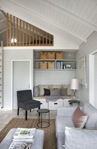 scandinavian cabin, modern