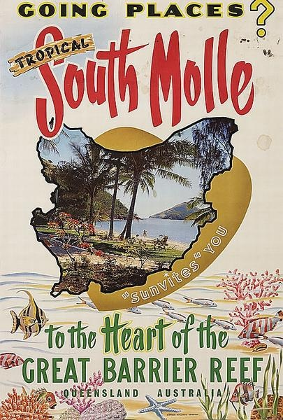 South Molle Island ~ Whitsunday Island; Queensland, Australia - Vintage travel poster
