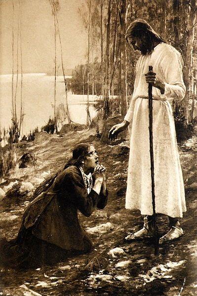 Albert Edelfelt - Christ and Mary Magdalene (1890)