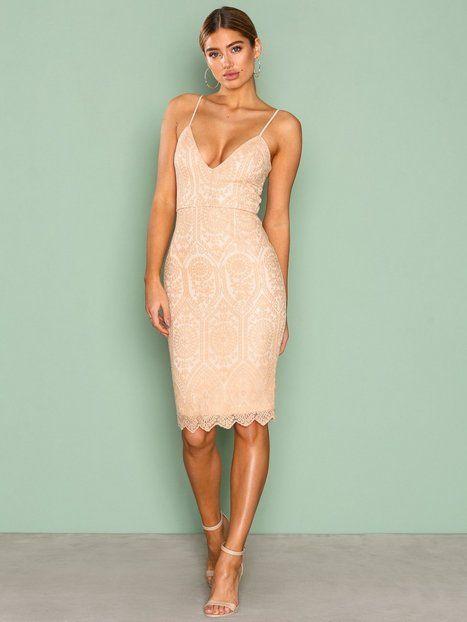Lace Strappy Midi Dress