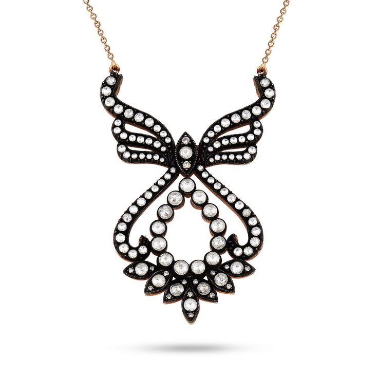 Rosecut Angel Wings  Pendant by Kaftan Jewellery