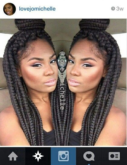 Jumbo Braids Hairstyles Jumbo box braids...i want my