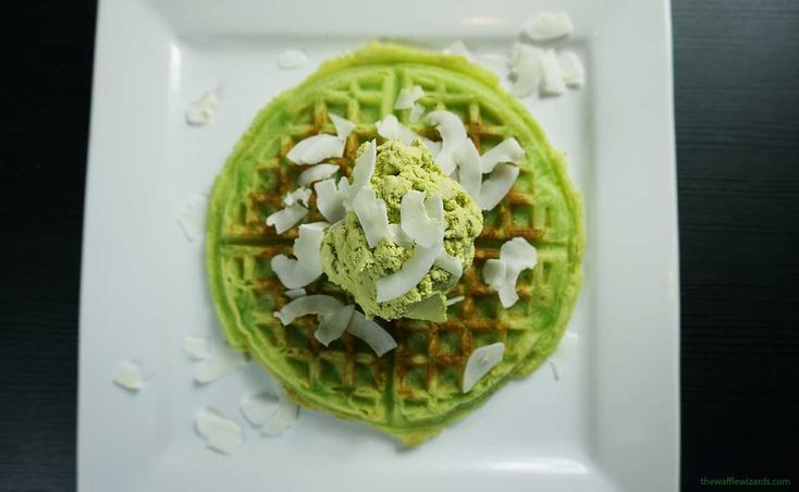Asian food is awesome and these are no exception. These are probably the first and only green waffles you've ever consumed, and in that case they're obviously the best ones too.
