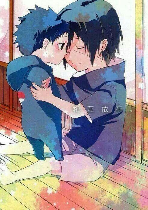 Melhor fanart de hoje 😍❤ #itachi #sasuke #child #baby