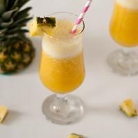 Χυμός «ηλιοβασίλεμα» με ανανά, μπανάνα και πορτοκάλι!