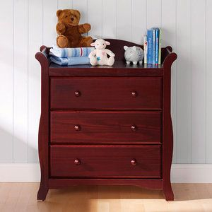Storkcraft - Aspen 3-Drawer Dresser, Cherry
