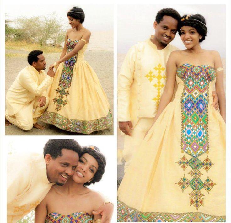 16 best ethiopian eritrean fashion images on pinterest for Ethiopian wedding dress designer