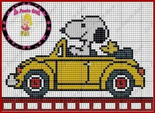 Snoopy Driving Woodstock
